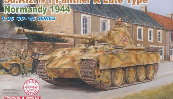 Model Kit tank 6168 - Sd.Kfz. 171 PANTHER A LATE TYPE, NORMANDY 1944 (1:35)