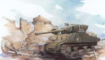 Model Kit tank 6188 - M4A2 (76) RED ARMY (1:35)