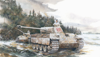 Model Kit tank 6358 - PANTHER A LATE RPODUCTION (PREMIUM EDITION) (1:35)