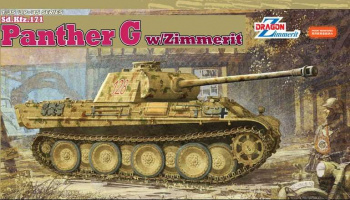 Model Kit tank 6384 - Sd.Kfz.171 PANTHER G w/ZIMMERIT (1:35)