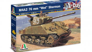 "Model Kit tank 6483 - M4A2 76mm ""WET"" SHERMAN (1:35)"