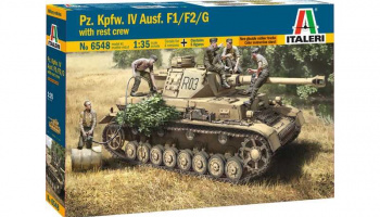 Model Kit tank 6548 - Pz.Kpfw. IV Ausf.F1/F2/G EARLY WITH REST CREW (1:35)