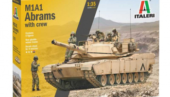 M1A2 ABRAMS with crew (1:35) Model Kit 6571 - Italeri