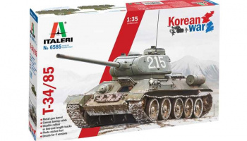 Model Kit tank 6585 - T-34/85 Korean War (1:35) - Italeri