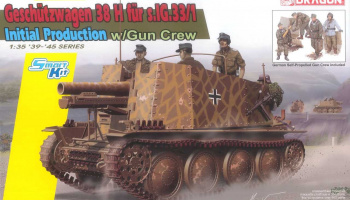 Model Kit tank 6857 - Geschützwagen 38 H für s.IG.33/I Initial Production (Smart Kit) (1:35)