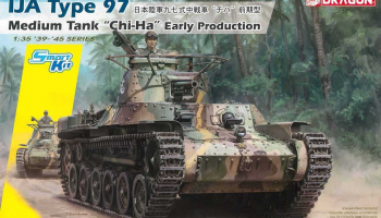 "Model Kit tank 6870 - IJA Type 97 Medium Tank ""Chi-Ha"" Early Production (Smart Kit) (1:35)"