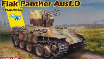 FLAK PANTHER Ausf.D s.Pz.Jg.Abt.653 (1:35) Model Kit tank 6899 - Dragon