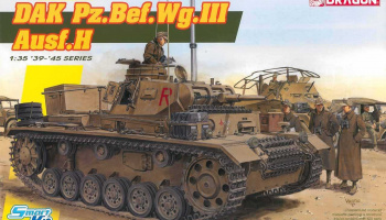 Model Kit tank 6901 - DAK Pz.Bef.Wg.III Ausf.H (Smart Kit) (1:35)