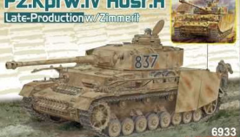 Pz.Kpfw.IV Ausf.H Late Production w/Zimmerit (2 in 1) (1:35) Model Kit tank 6933 - Dragon