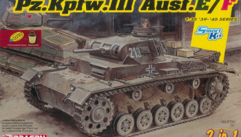 Pz.Kpfw.III Ausf.E/F (Smart kit) (2 in 1) (1:35) Model Kit tank 6944 - Dragon