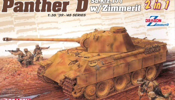 Sd.Kfz.171 Panther Ausf.D with Zimmerit (2 in 1) (1:35) Model Kit tank 6945 - Dragon