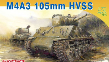 Model Kit tank 7313 - M4A3 105mm HVSS (1:72) – Dragon