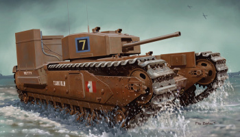 Model Kit tank 7520 - CHURCHILL MK.III w/DEEP WADING KIT (1:72)