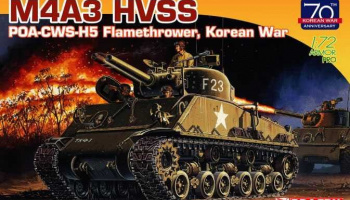 Model Kit tank 7524 - M4A3 HVSS POA-CWS-H5 Flamethrower, Korean War (70th Anniversary) (1:72)