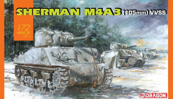 Model Kit tank 7569 - Sherman M4A3 (105mm) VVSS (1:72) – Dragon