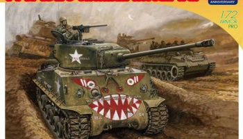 Model Kit tank 7570 - M4A3E8 SHERMAN Korean War (70th Anniversary) (1:72)