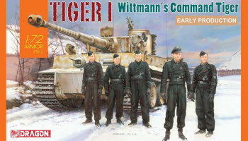 Model Kit tank 7575 - Tiger I Early Production, Wittmann's Command Tiger (1:72)