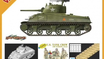 Model Kit tank 9102 - SHERMAN M4A4 75mm + U.S. TANK CREW (1:35)