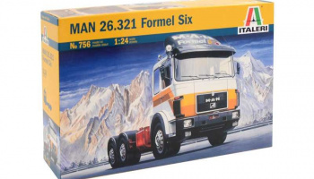 MAN 26.321 FORMEL SIX (1:24) Model Kit Truck 0756 - Italeri