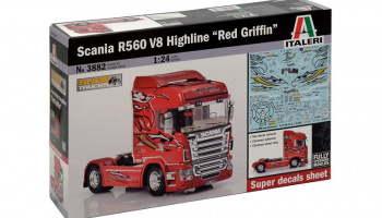 "SCANIA R560 V8 HIGHLINE ""RED GRIFFIN"" (1:24) Italeri Model Kit Truck 3882"
