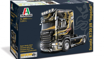 "SCANIA R V8 TOPLINE "" IMPERIAL"" (1:24) Model Kit Truck 3883 - Italeri"