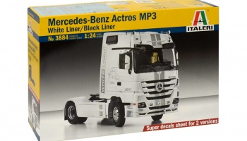 "MERCEDES-BENZ ACTROS Mp3 ""BLACKLINER"" White Liner - Italeri"