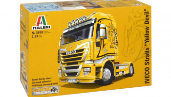 "IVECO STRALIS ""YELLOW DEVIL"" (1:24) Italeri Model Kit Truck 3898"