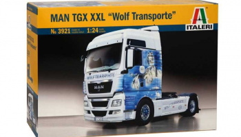"MAN TGX XXL ""WOLF TRANSPORTE"" (1:24) Model Kit 3921 - Italeri"