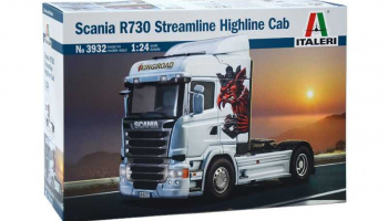 Scania R730 Streamline Highline Cab (1:24) Model Kit Truck 3932 - Italeri