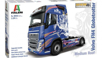VOLVO FH4 Globetrotter Medium Roof (1:24) Model Kit Truck 3942 - Italeri