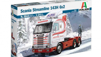 SCANIA Streamline 143H 6x2 (1:24) Model Kit Truck 3944 - Italeri