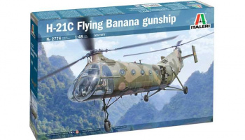 Model Kit vrtulník 2774 - H-21C Flying Banana GunShip (1:48)
