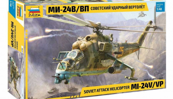 Model Kit vrtulník  MIL-Mi 24 V/VP (1:48) – Zvezda