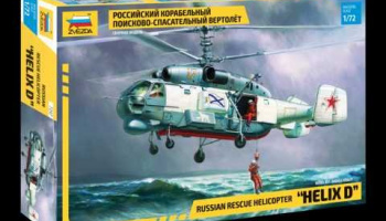 KA-27 Rescue Helicopter (RR) (1:72) Model Kit 7247 - Zvezda