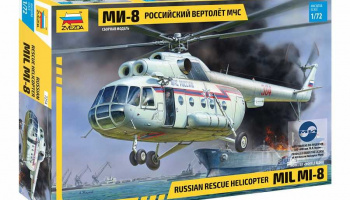 MIL Mi-8 Rescue Helicopter (1:72) Model Kit 7254 - Zvezda