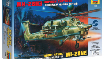 MIL MI-28N Russian Helicopter (1:72) Model Kit 7255 - Zvezda