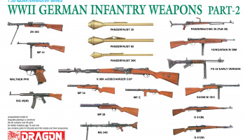 Model Kit zbraně 3816 - WWII German Infantry Weapons Part 2 (1:35)