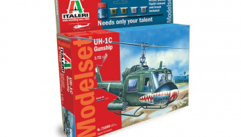 Model Set vrtulník 71050 - UH-1C GUNSHIP (1:72)
