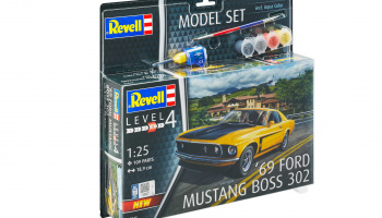 1969 Boss 302 Mustang (1:25) Model Set 67025 - Revell