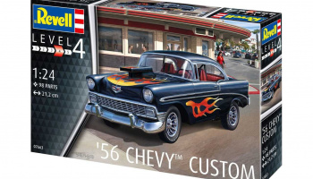 Model Set 67663 - '56 Chevy Customs (1:24) - Revell