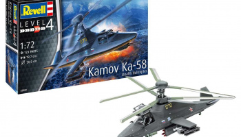 Model Set 63889 - Kamov Ka-58 Stealth (1:72) - Revell