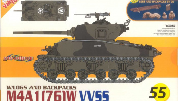 M4A1(76)W VVSS 1:35 Model kit 9155 - Dragon