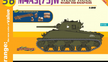 M4A3(75)W Welded Hull (1:35) Model kit 9156 - Dragon