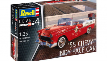 Model set auto 67686 - 55 Chevy Indy Pace Car (1:25) - Revell