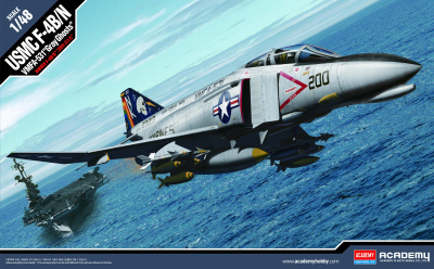 "Model Kit letadlo 12315 - USMC F-4B/N VMFA-531 ""GRAY GHOSTS"" (1:48)"