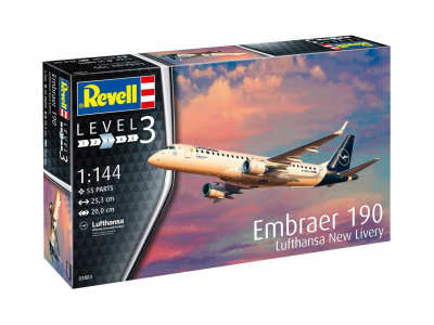 Model set letadlo 63883 - Model Set Embraer 190 Lufthansa (1:144)
