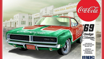 Dodge Charger RT Coca Cola 1969 1/25 Scale Model Kit - MPC