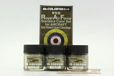Mr. Color - ROYAL AIR FORCE (WWII) COLOR EARLY - RAF - early sada barev 3x10ml - Gunze