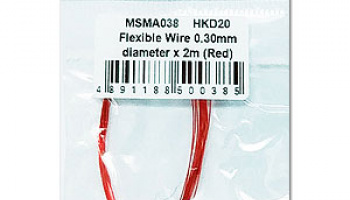Flexible Wire 0.30mm diameter x 2m (Red) - MSM Creation