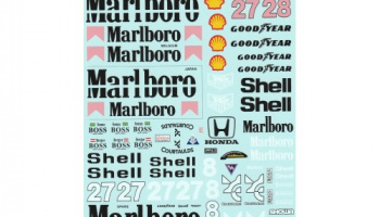 McLaren MP4/5B Full Decal 1/12 - MSM Creation